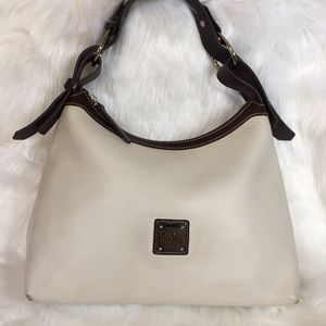 Dooney and Bourke White Leather Convertible Bag